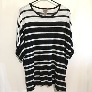 2/$20 Chico's Easywear Striped Shirt